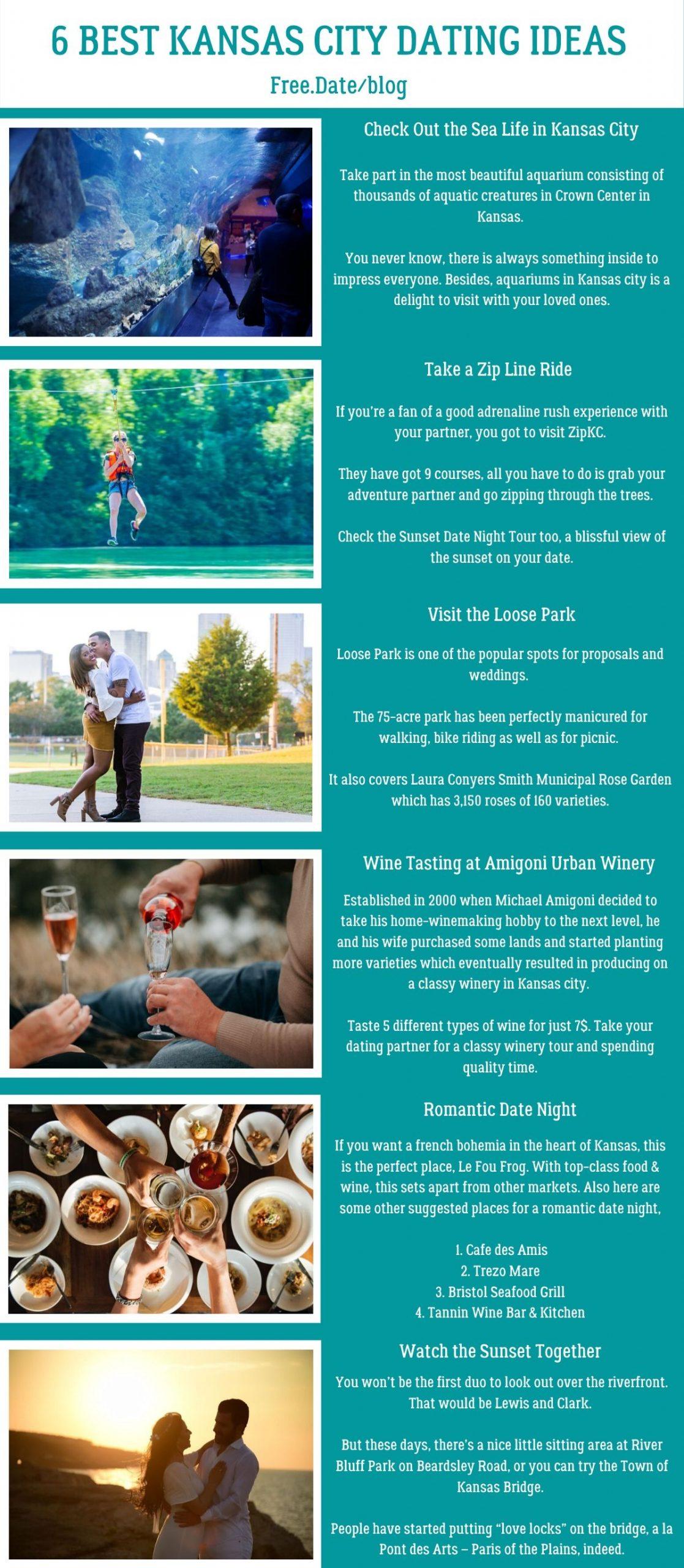 Infographics of 6 Best Kansas City Dating Ideas - Free Dating Blog