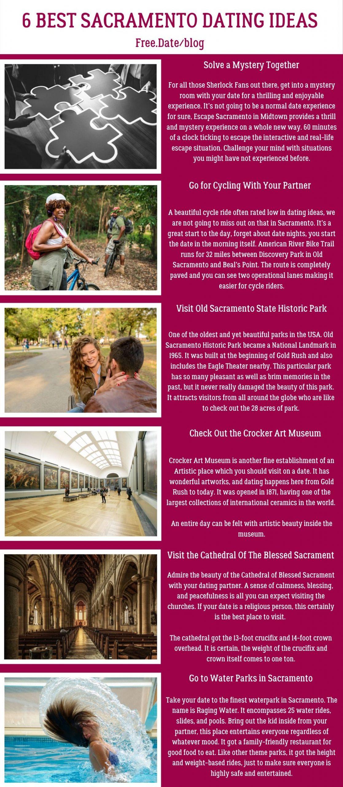 Infographics of 6 Best Sacramento Dating Ideas - Free Dating Blog