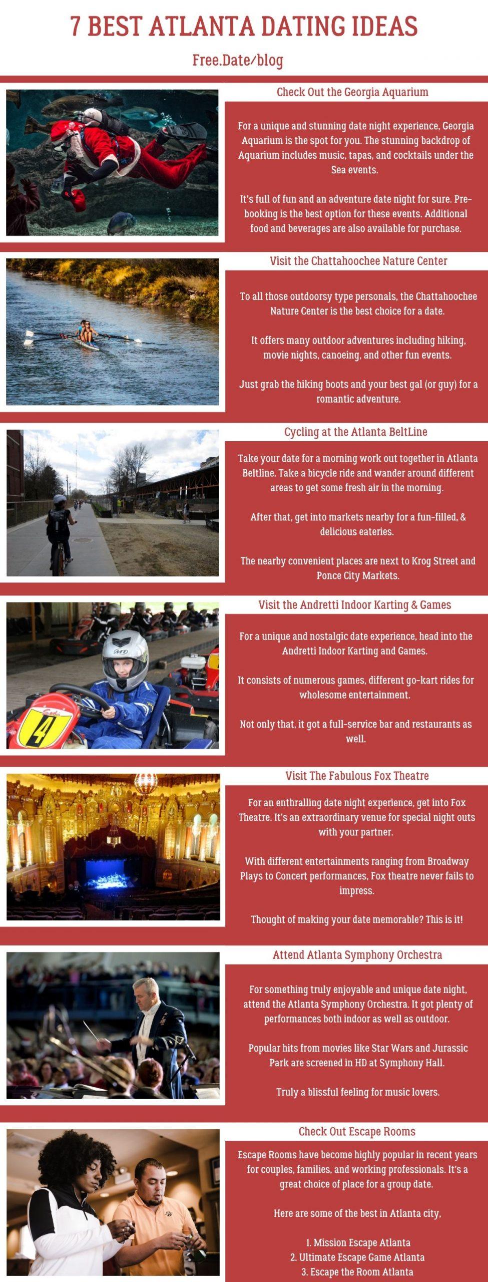 Infographics of 7 Atlanta Dating Ideas - Free Dating Blog