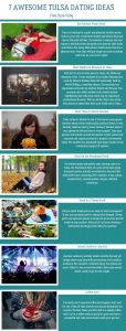 Infographics of 7 Awesome Tulsa Dating Ideas - Free Dating Blog