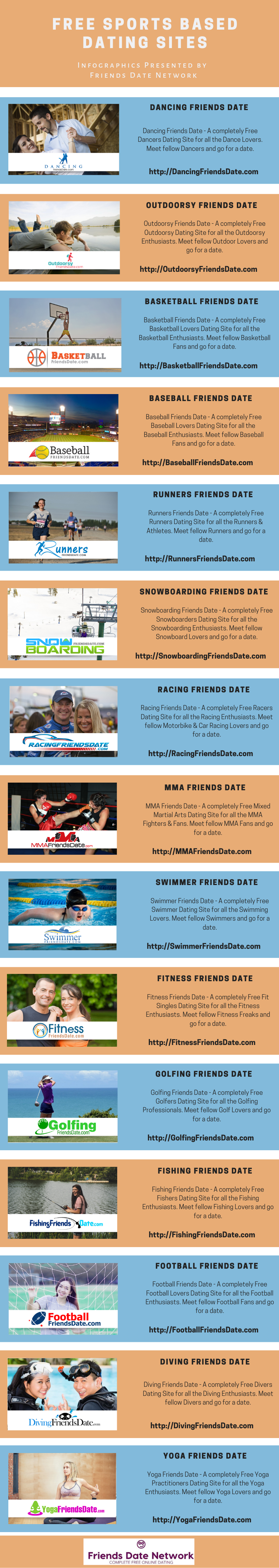 Free Sports Based Dating Sites [Infographics] - Friends Date Network